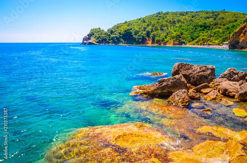 View on beautiful wild beach