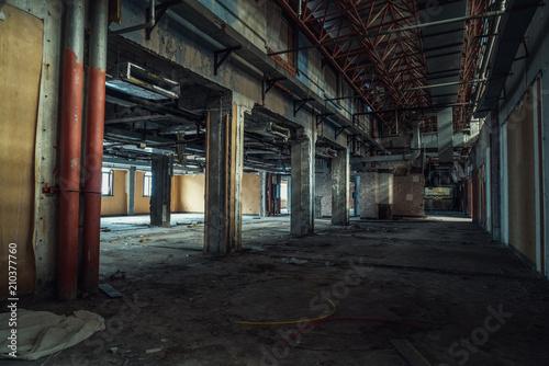 Fotobehang Oude verlaten gebouwen Ruins of buildings, abandoned gloomy and terrifying factory buildings
