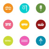 Span icons set. Flat set of 9 span vector icons for web isolated on white background - 210396519