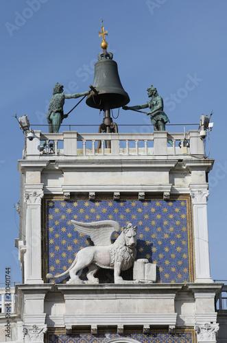 Venice Italy The Ancient clock tower called Campanile dei Mori d
