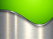 Green metallic background, elegant with wave and brushed metal texture
