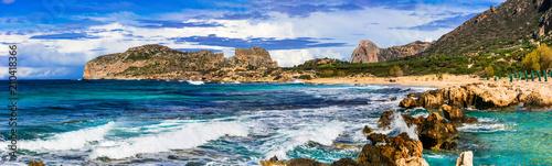 Plexiglas Freesurf wild beauty of Crete island. Picturesque Falasarna beach. amazing Greece series