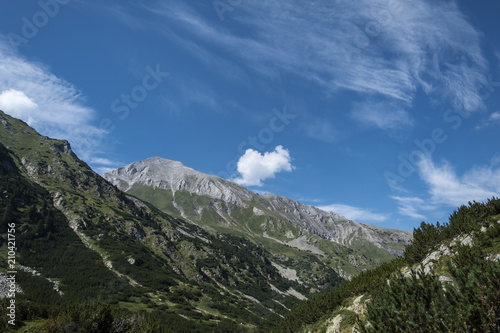Aluminium Bergrivier Vihren peak, Pirin Mountain