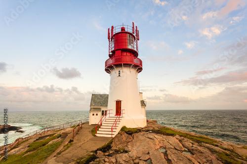 Plexiglas Vuurtoren Lindesnes Lighthouse in Norway