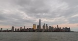 Clouds Passing Over Lower Manhattan At Sunset In New York City - 210424331