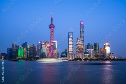 Plexiglas Shanghai panoramic city skyline in shanghai china