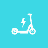 electric kick scooter icon