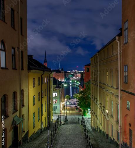 Fotobehang Smalle straatjes Streets of Stockholm