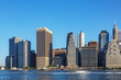 Manhattan skyline at summer daytime