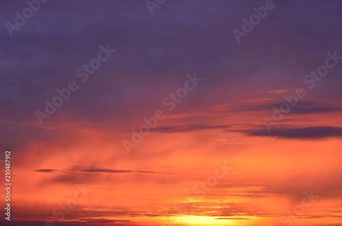 Aluminium Aubergine Background of the rising sun