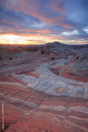 Aluminium Cappuccino Sunset landscape in the desert, southwest, Arizona, USA.