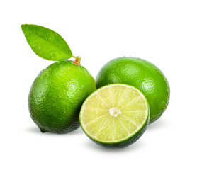 Lime isolated on white with clipping path