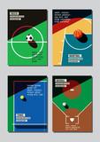 Graphic design sport concept. Sports equipment background. Vector Illustration. - 210530954