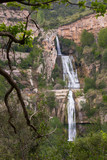 Sant Miquel del Fai with waterfall, Barcelona, Spain