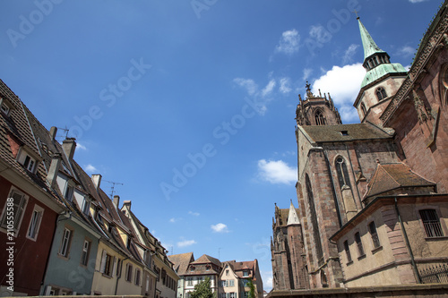 Sankt Georges church in Selestat, a big gothic church in the Alsace region - 210555588