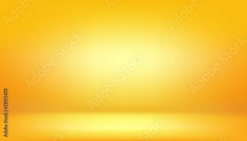 żółte tło, abstrakcyjne studio gradientu i ściany tekstury wektor i ilustracji, może być używany przedstawiony produkt
