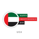 Happy UAE Independence Day Vector Template Design Illustrator