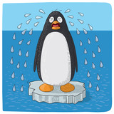 penguin crying for climate change - 210571393