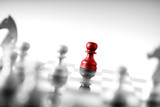 Chess business concept, leader teamwork & success - 210581526