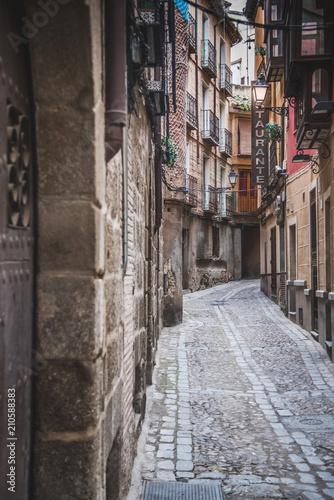 Fotobehang Smalle straatjes Spanish Street