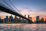 Brooklyn Bridge at dusk in NYC - 210609979