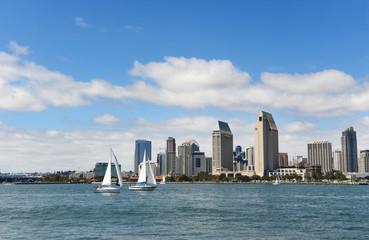 San Diego skyline during a sunny day