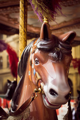 Brown horse of a childish carrousel © Horacio Selva