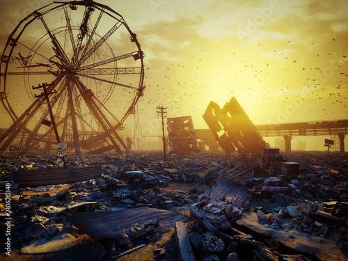 Apocalypse city landscape. © victor zastol'skiy