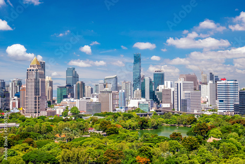 Plexiglas Bangkok Bangkok city skyline from top view in Thailand