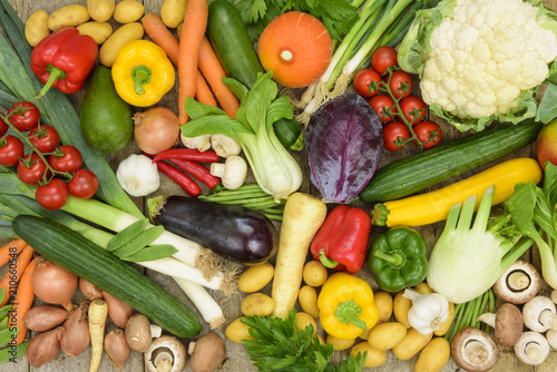 healthy vegetables from market - 210660548