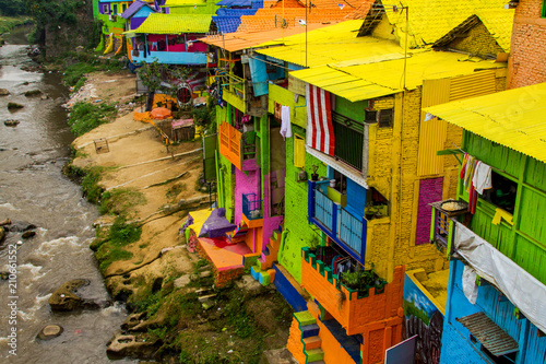 Leinwanddruck Bild Jodipan Village, Malang, Jawa, Indonesia