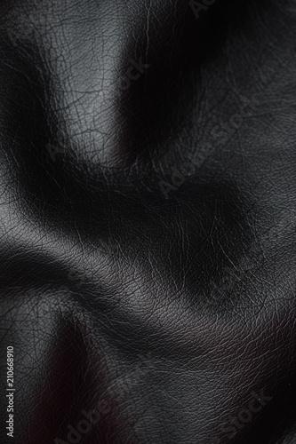 Fototapeta Black leatherette. Close up