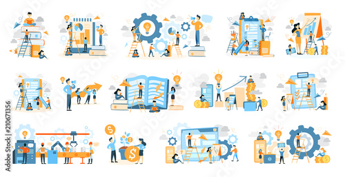Wall mural Business icons set.