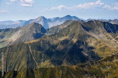 Fotobehang Nachtblauw Fagaras mountains in Romania