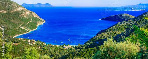 Plexiglas Freesurf Breathtaking views of bays in Lefakda. Ionian islands of Greece