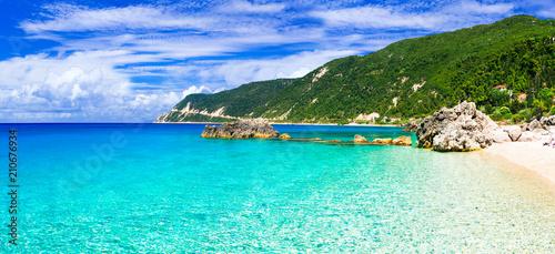 Plexiglas Freesurf Best beaches of Lefkada island - Agios Nikitas with crystal clear waters
