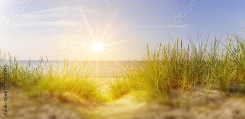 Sonnenuntergang zwischen Dünen - 210681924