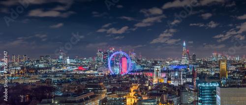 Foto Spatwand London London Skyline by Night