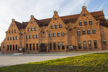 A building of Polish Baltic F.Chopin Philharmonic in Gdańsk. Poland