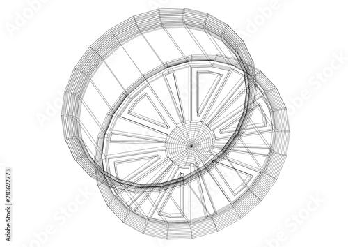 Car rim architect blueprint isolated buy photos ap images car rim architect blueprint isolated malvernweather Gallery