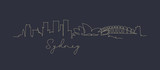 Pen line silhouette sydney dark blue - 210705109