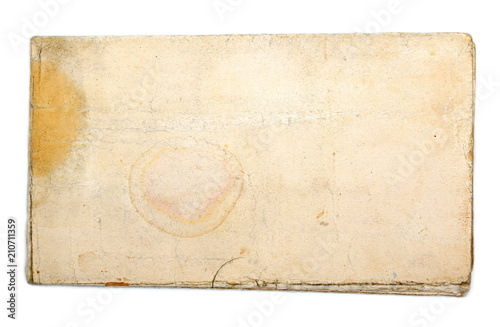 Fototapeta Blank old dirty paper isolated on white background