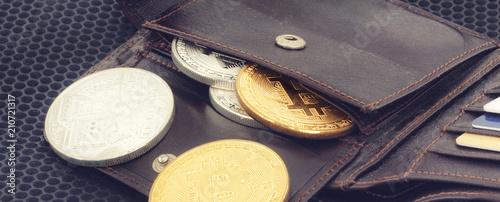 Fototapeta Bitcoin Konzept - die neue Weltwährung