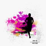 Marathon runner, sport illustration