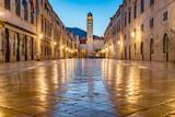 Old town of Dubrovnik at twilight, Dalmatia, Croatia - 210748989