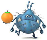 Fun germ - 3D Illustration - 210782756