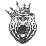 Vintage logo style bear - 210790545