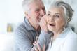 Leinwanddruck Bild - Senior couple posing