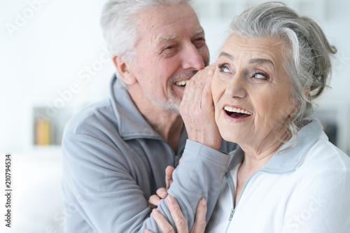 Leinwanddruck Bild Senior couple posing