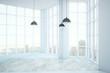 Empty clean white room